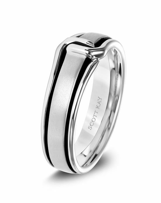 Scott Kay G4088CV6 Platinum Wedding Ring