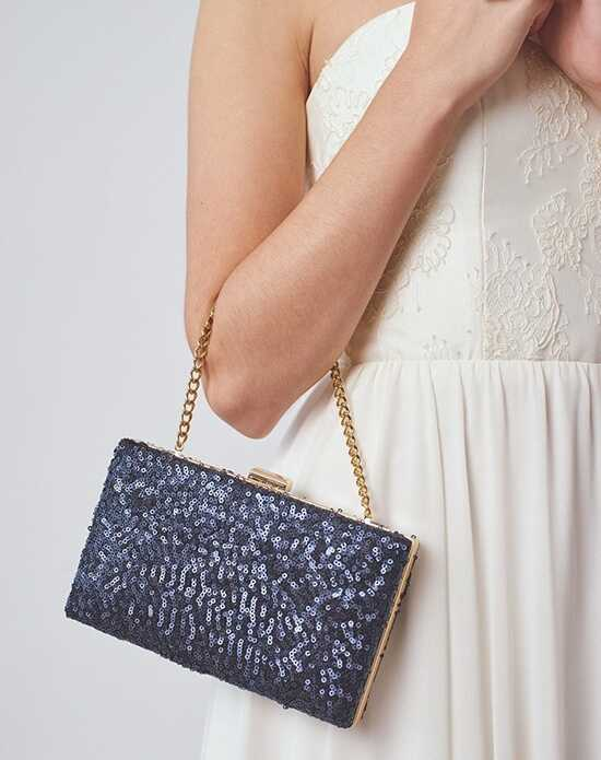 Davie & Chiyo | Clutch Collection Esmé Box Clutch Blue, Gold Clutches + Handbag