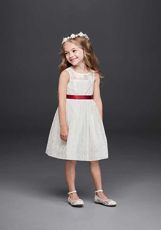 David's Bridal Flower Girl David's Bridal Style OP226 Ivory Flower Girl Dress