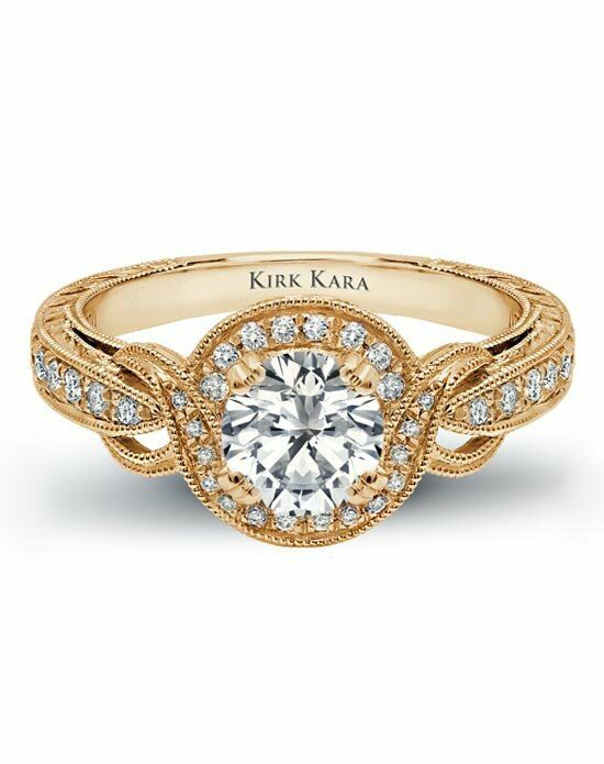 Kirk Kara Pirouetta Collection K150R65RY Platinum, White Gold, Rose Gold, Gold Wedding Ring
