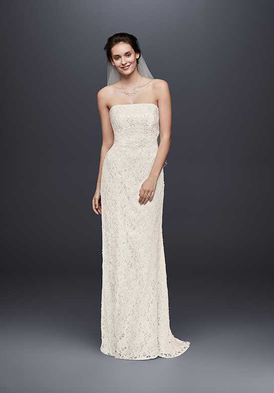 David's Bridal Galina Style S8551 Sheath Wedding Dress