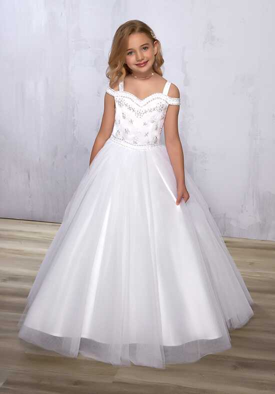 Cupids by Mary's F572 White Flower Girl Dress