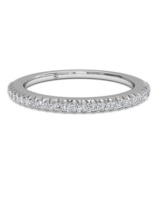 Ritani Women's Open Micropave Diamond Wedding Band - in 14kt White Gold (0.13 CTW) White Gold Wedding Ring