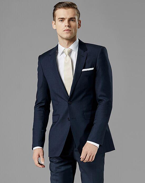 Generation Tux Navy Blue Notch Lapel Suit Wedding Tuxedo - The Knot