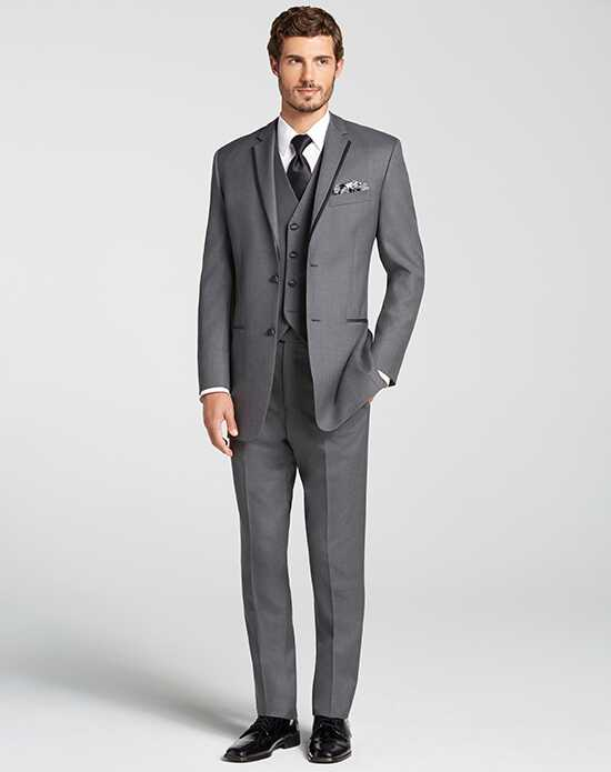 Men's Wearhouse Joseph Abboud® Satin Edge Dark Gray Tuxedo Gray Tuxedo