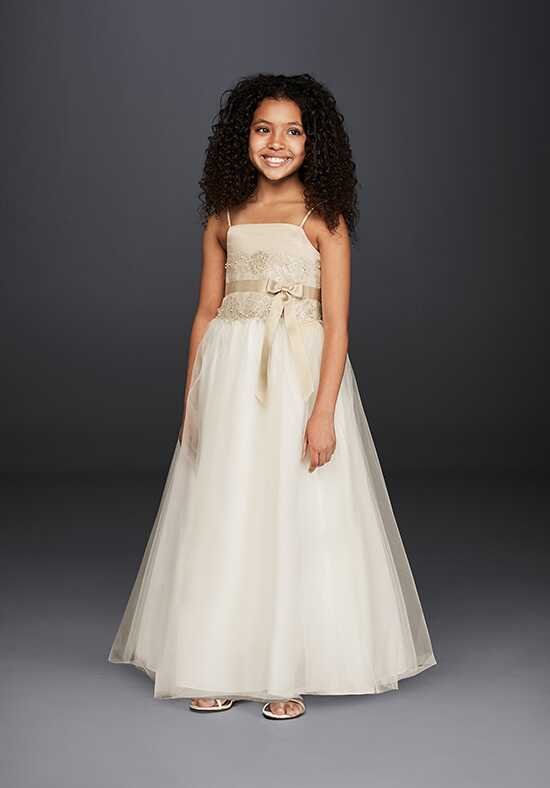 David's Bridal Flower Girl David's Bridal Style H1173 Ivory Flower Girl Dress