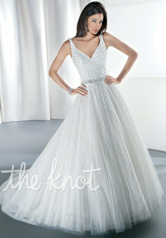 Demetrios 545 A-Line Wedding Dress
