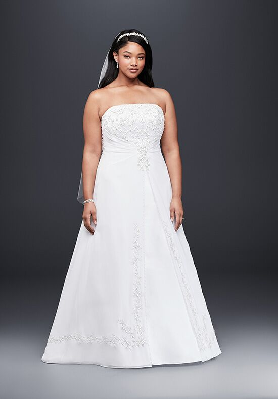 David's Bridal David's Bridal Collection Style 9V9010 A-Line Wedding Dress