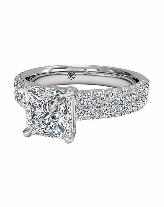 Ritani Princess Cut Double FrenchSet Band Engagement Ring in