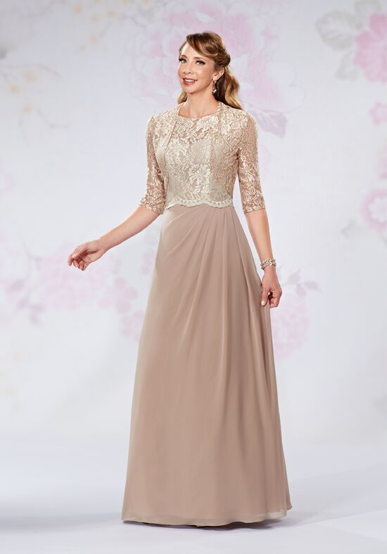 Beautiful Mothers by Mary's M2726 Brown Mother Of The Bride Dress