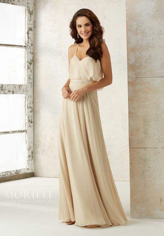 Morilee by Madeline Gardner Bridesmaids 21507 V-Neck Bridesmaid Dress