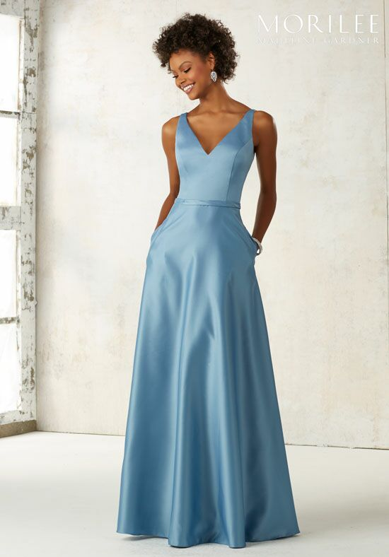 Morilee by Madeline Gardner Bridesmaids 21525 V-Neck Bridesmaid Dress