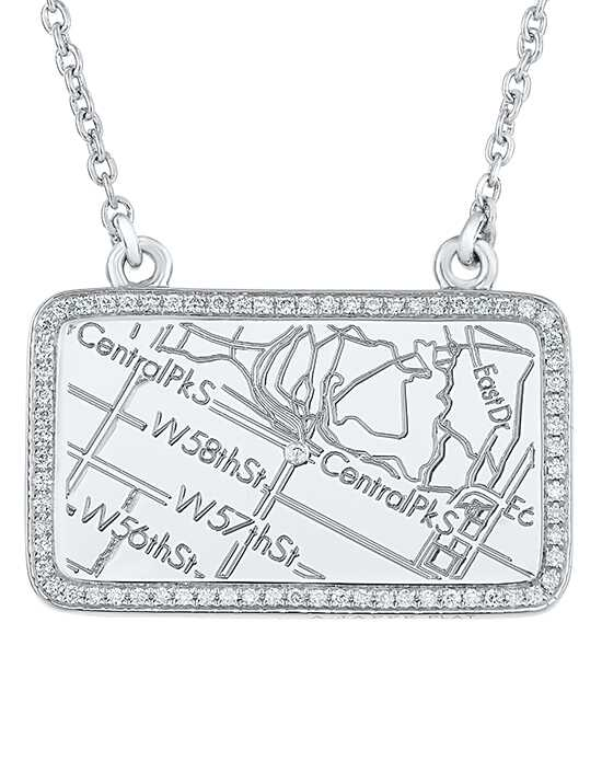 A.JAFFE Maps MAPN001 Wedding Necklace photo