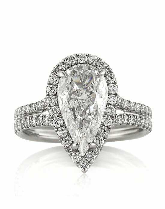 mark broumand 301ct pear shaped diamond engagement ring - Pear Shaped Wedding Ring