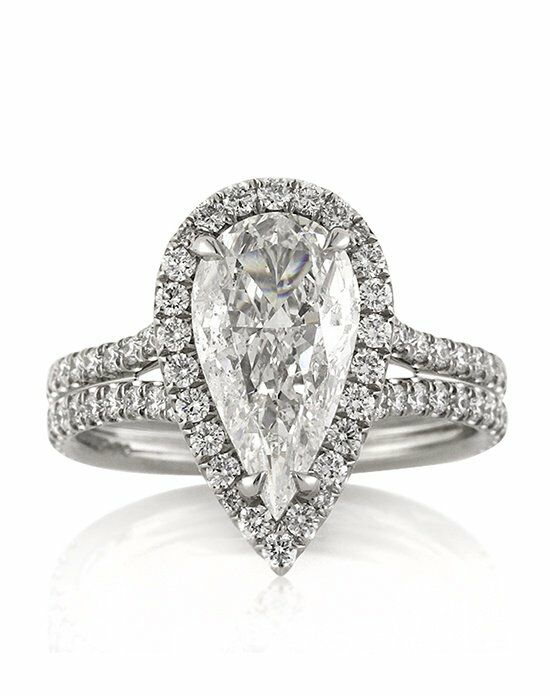 Mark Broumand. 3.01ct Pear Shaped Diamond Engagement Ring