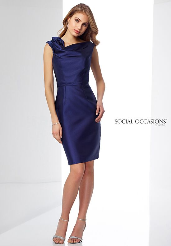 Social Occasions by Mon Cheri 217848 Blue Mother Of The Bride Dress