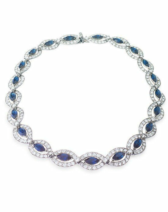 Thomas Laine Ben-Amun Belle Époque Blue Crystal Necklace Wedding Necklace photo