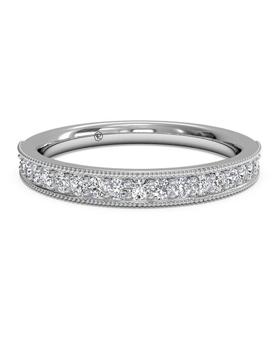 Ritani Women's Diamond Milgrain Wedding Band - in 14kt White Gold (0.24 CTW) White Gold Wedding Ring