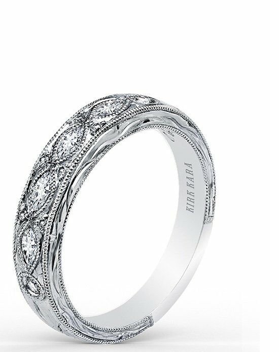 Kirk Kara Dahlia Collection K1120D-B White Gold Wedding Ring