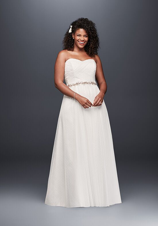 David's Bridal Galina Style 9WG3438 A-Line Wedding Dress