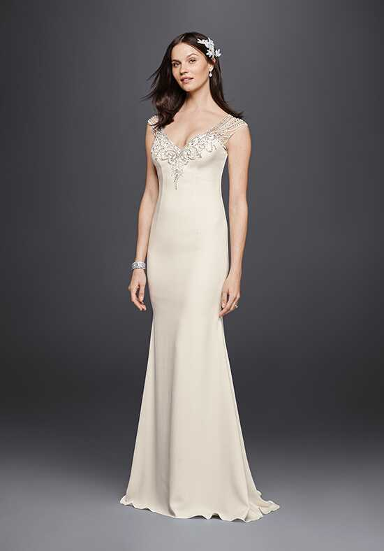 David's Bridal Galina Signature Style SWG752 Sheath Wedding Dress