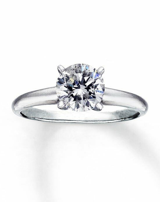 Kay Jewelers Diamond Solitaire Ring 1 1 2 ct Round 14K White Gold W