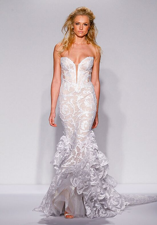 Pnina tornai for kleinfeld 4450 wedding dress the knot for Pnina tornai wedding dresses prices