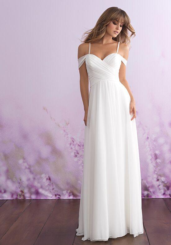 a line over shoulder dress