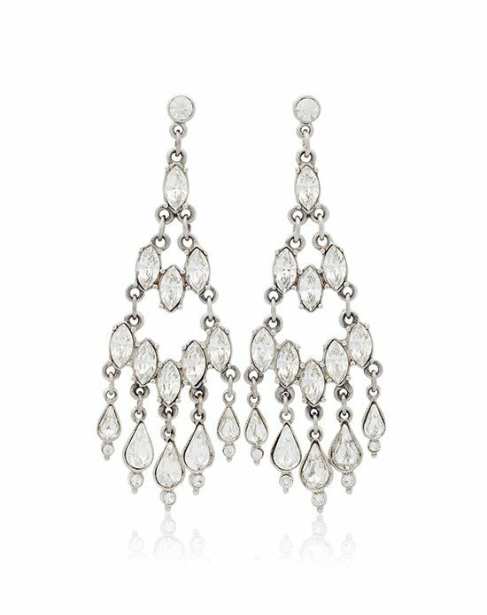 Thomas Laine Ben-Amun Bridal Crystal Chandelier Teardrop Earring Wedding Earring photo
