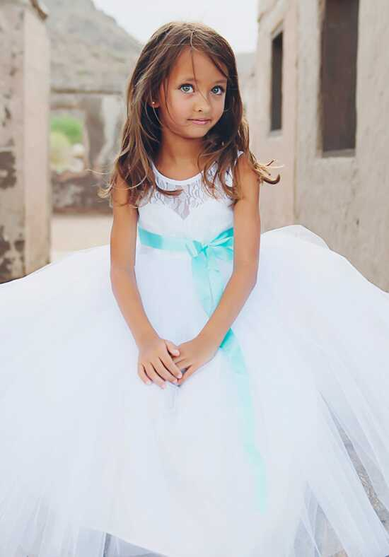FATTIEPIE Elizabeth White White Flower Girl Dress