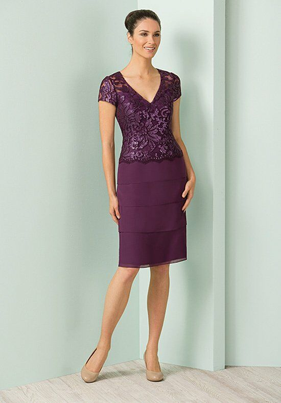 Jasmine Black Label M180011 Purple Mother Of The Bride Dress