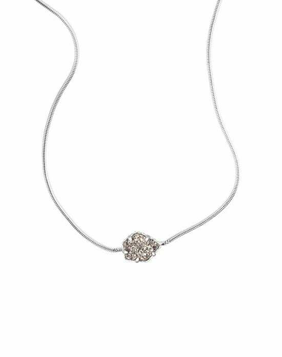 Kendra Scott Mara Necklace in Platinum Drusy Wedding Necklace photo
