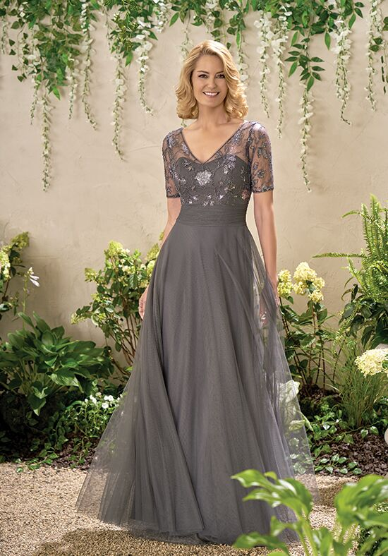 Jade J195012 Grey Mother Of The Bride Dress