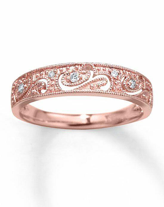kay jewelers diamond anniversary band 10k rose gold 120ct tw milgrain 531796706 rose - Kay Jewelers Wedding Rings For Her