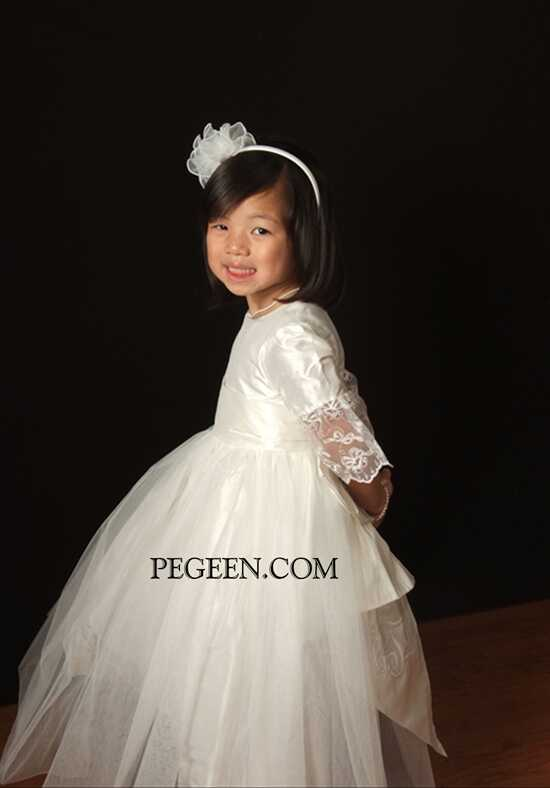Pegeen.com 694 Black Flower Girl Dress