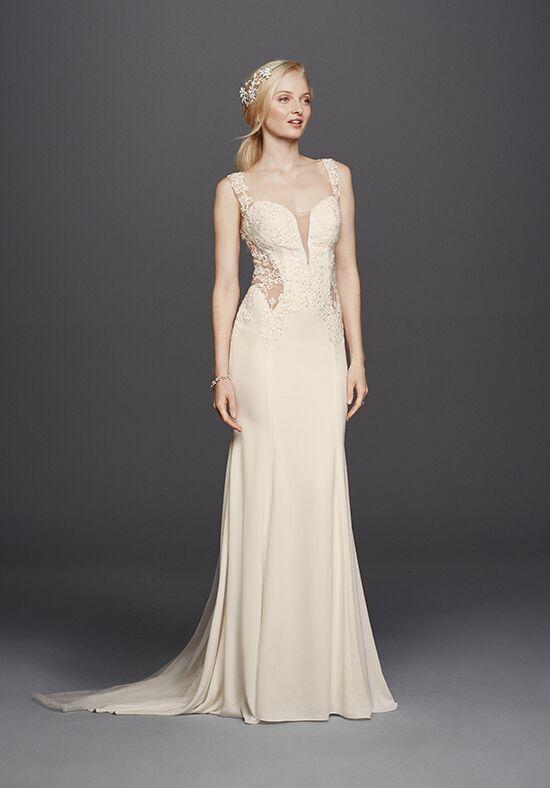 davids bridal galina signature style swg725 sheath wedding dress