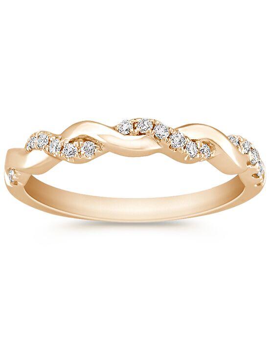 Shane Co. 14k Rose Gold Infinity Diamond Band Wedding Ring - The Knot