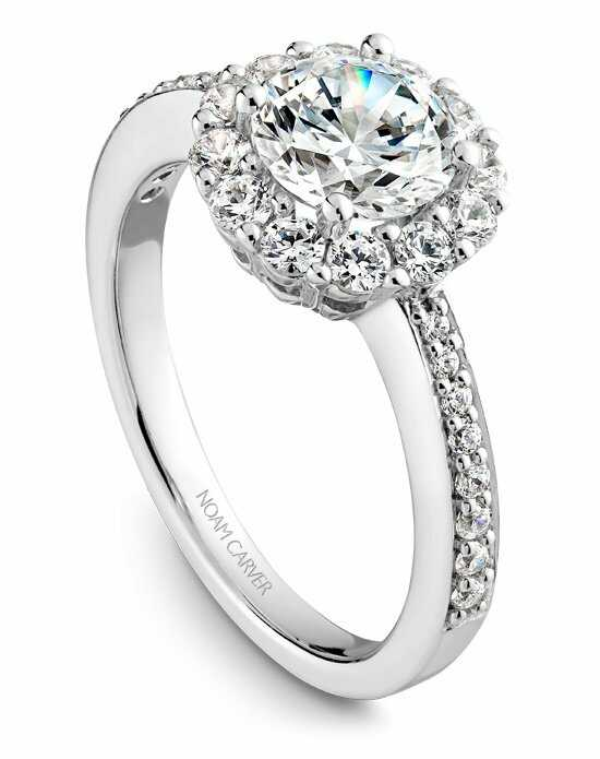 Noam Carver Glamorous Round Cut Engagement Ring
