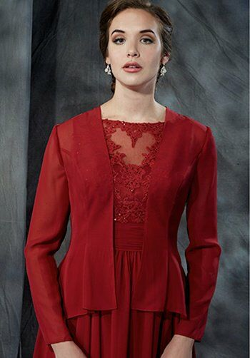 Beautiful Mothers by Mary's M2715 Red Mother Of The Bride Dress