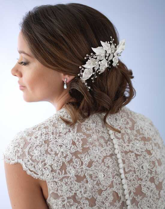 USABride Malina Silver Leaf Bridal Clip TC-2277 Wedding Pins, Combs + Clips photo