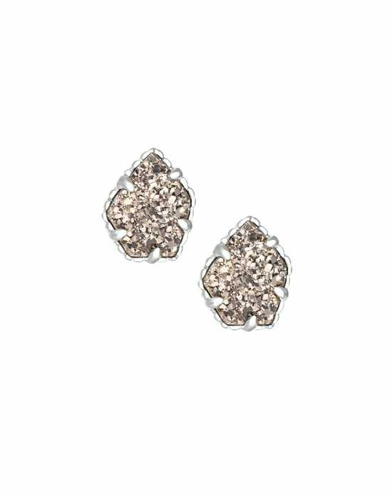 Kendra Scott Tessa Stud Earrings in Platinum Drusy Wedding Earring photo