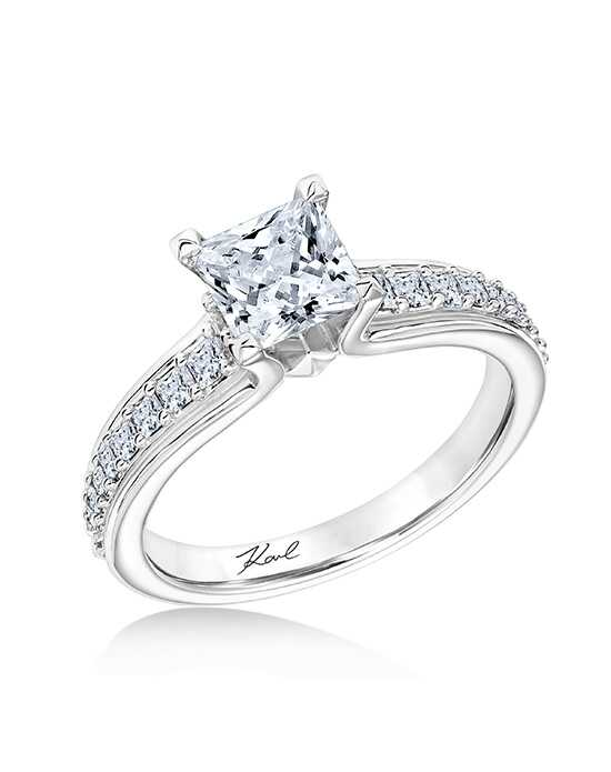 KARL LAGERFELD Glamorous Princess Cut Engagement Ring