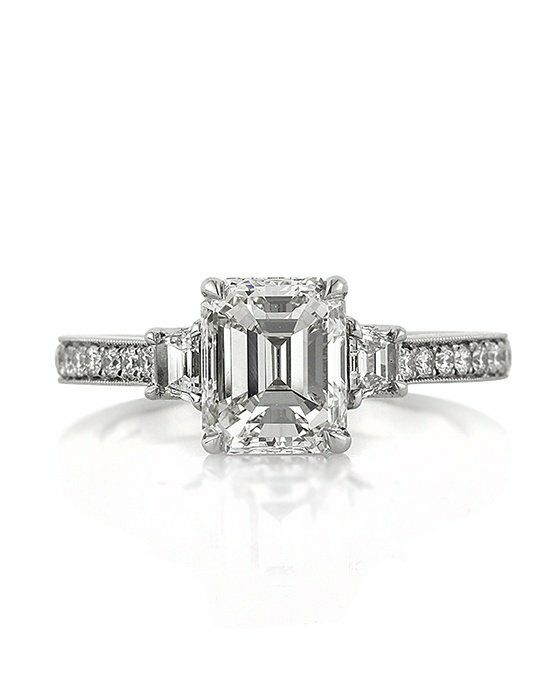 Mark Broumand Classic Emerald Cut Engagement Ring