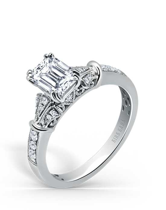 Kirk Kara Vintage Emerald Cut Engagement Ring