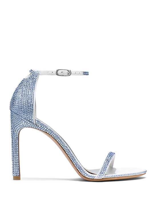 Stuart Weitzman Nudistsong Light Sapphire Pave Crystals