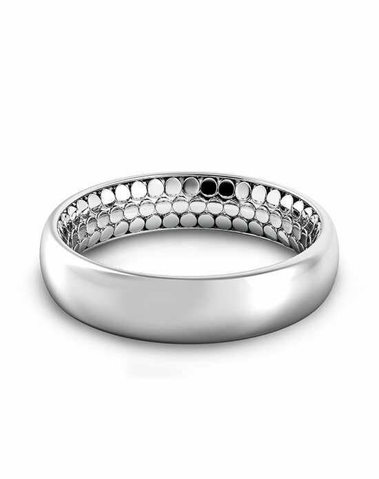 Danhov Tubetto Men's Inside Out Band Platinum Wedding Ring