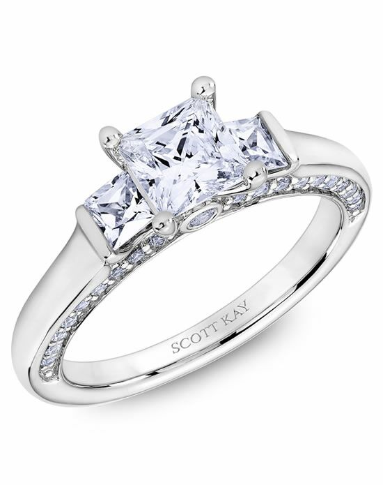 Scott Kay Princess Cut Engagement Ring