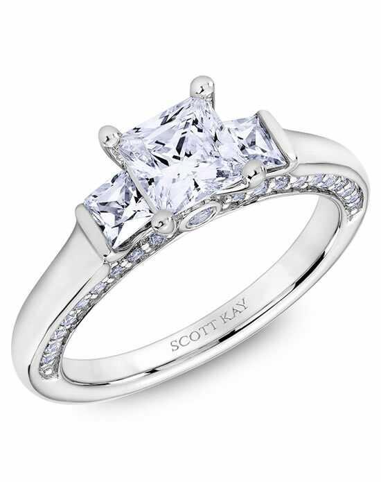 scott kay - Wedding Rings Princess Cut