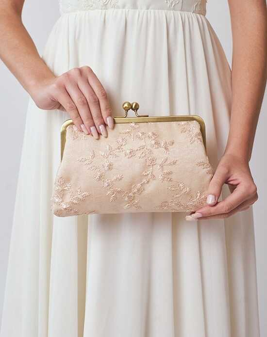 Davie & Chiyo | Clutch Collection Antoinette Clutch: Champagne Pink, Champagne Clutches + Handbag