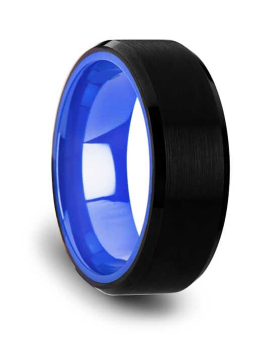 Mens Tungsten Wedding Bands W3833-BTBI Tungsten Wedding Ring
